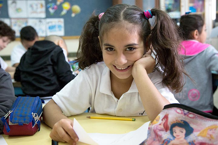 Schülerin Dar al-Kalima Schule Bethlehem
