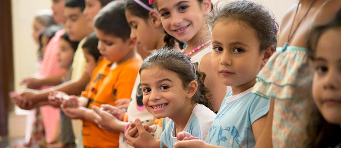Kinder im Gottesdienst - Evangelische Gemeinden in Palästina