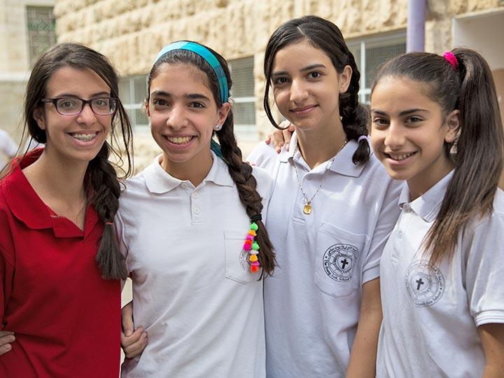Schülerinnen der Evangelisch-Lutherischen Schule in Beit Sahour