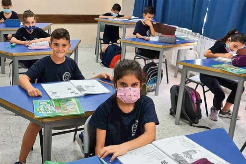 """Corona-Virus in Palästina und Israel: """"Im Lande der Bibel"""" 3/2020 - Foto: Unterricht in der evangelischen School of Hope, Ramallah"""