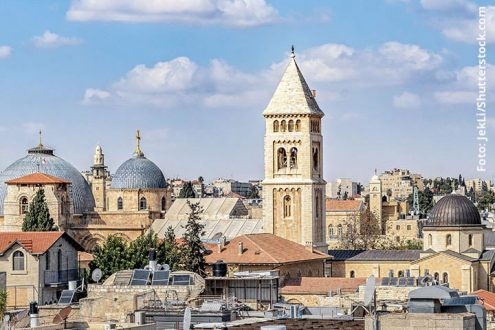 Jerusalem: Christian Quarter mit Erlöserkirche, Foto: JekLi/Shutterstock.com